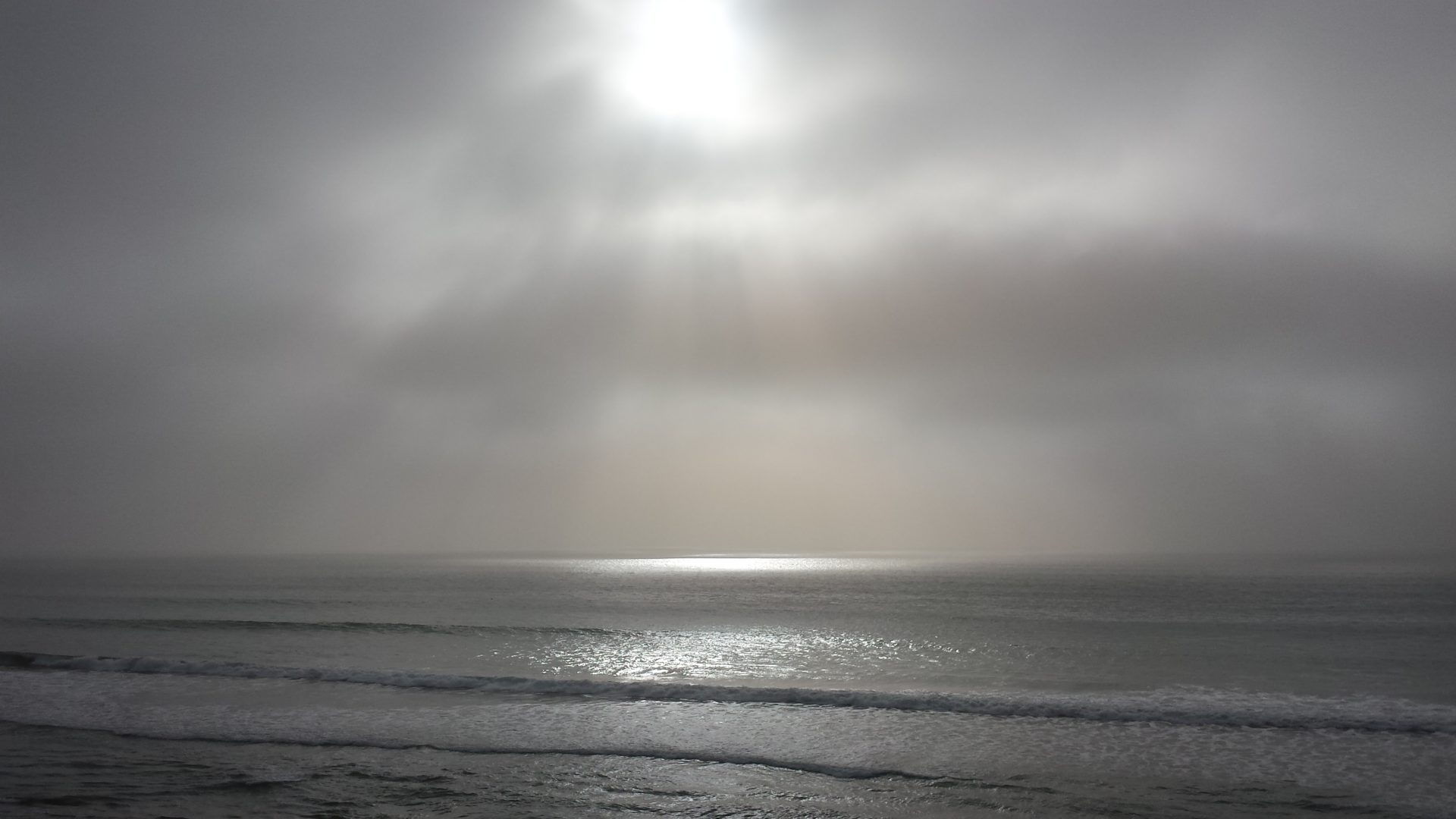 Gray foggy soft horizon