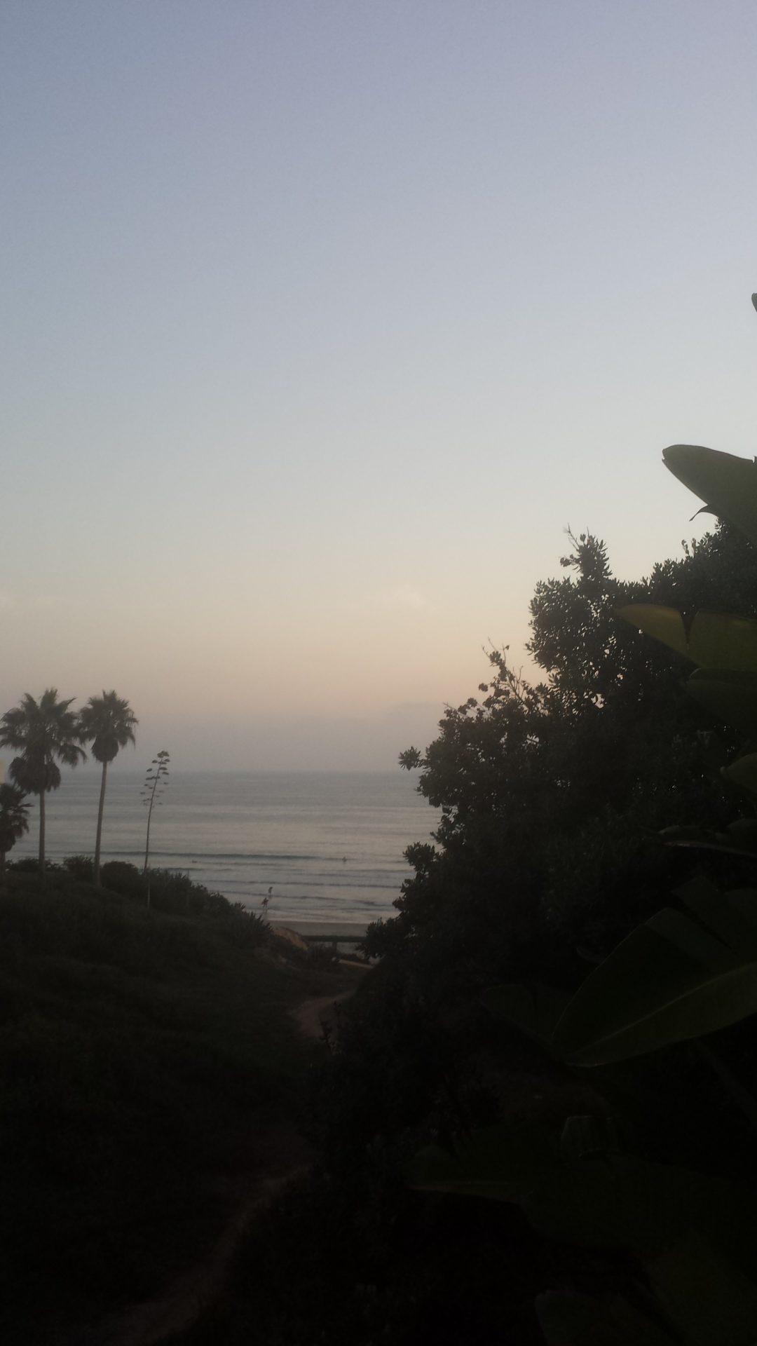 A Hazy Sunset